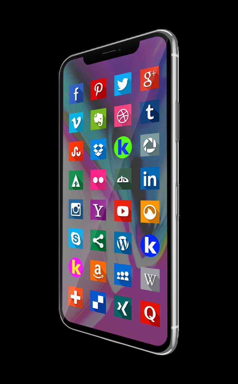 iPhone X RRSS con K
